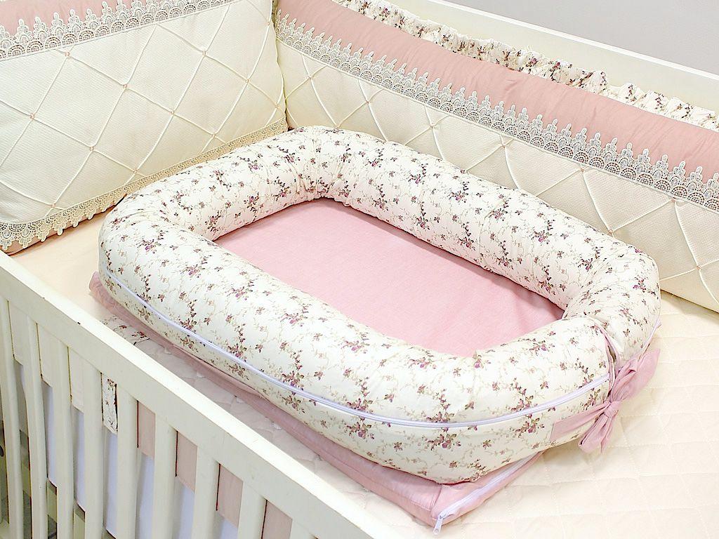 Ninho para Bebê Redutor de Berço Floral Sarah Rose