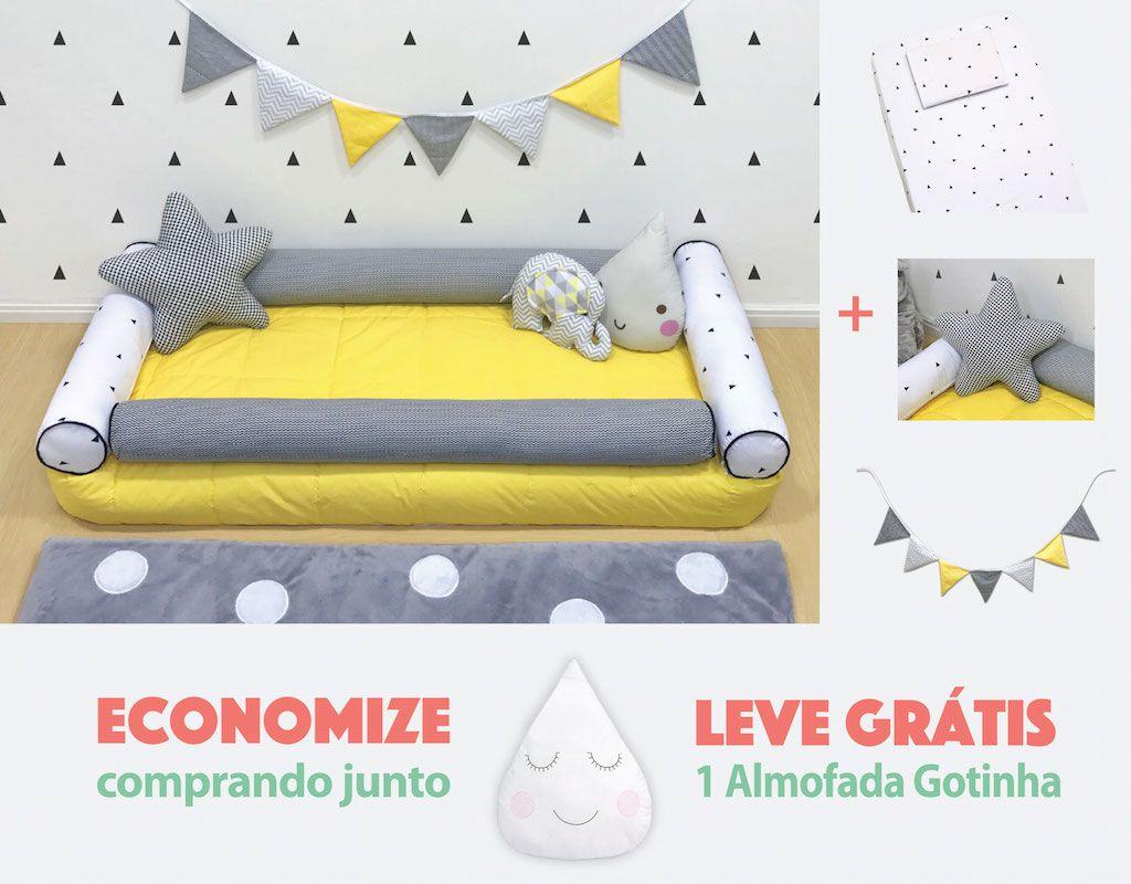 Quarto Montessoriano Triângulo Preto e Amarelo  10 peças