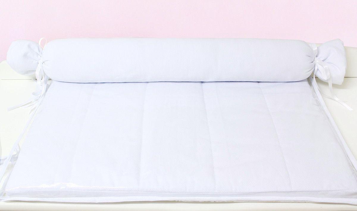 Trocador Espuma 4cm com Rolinho Branco