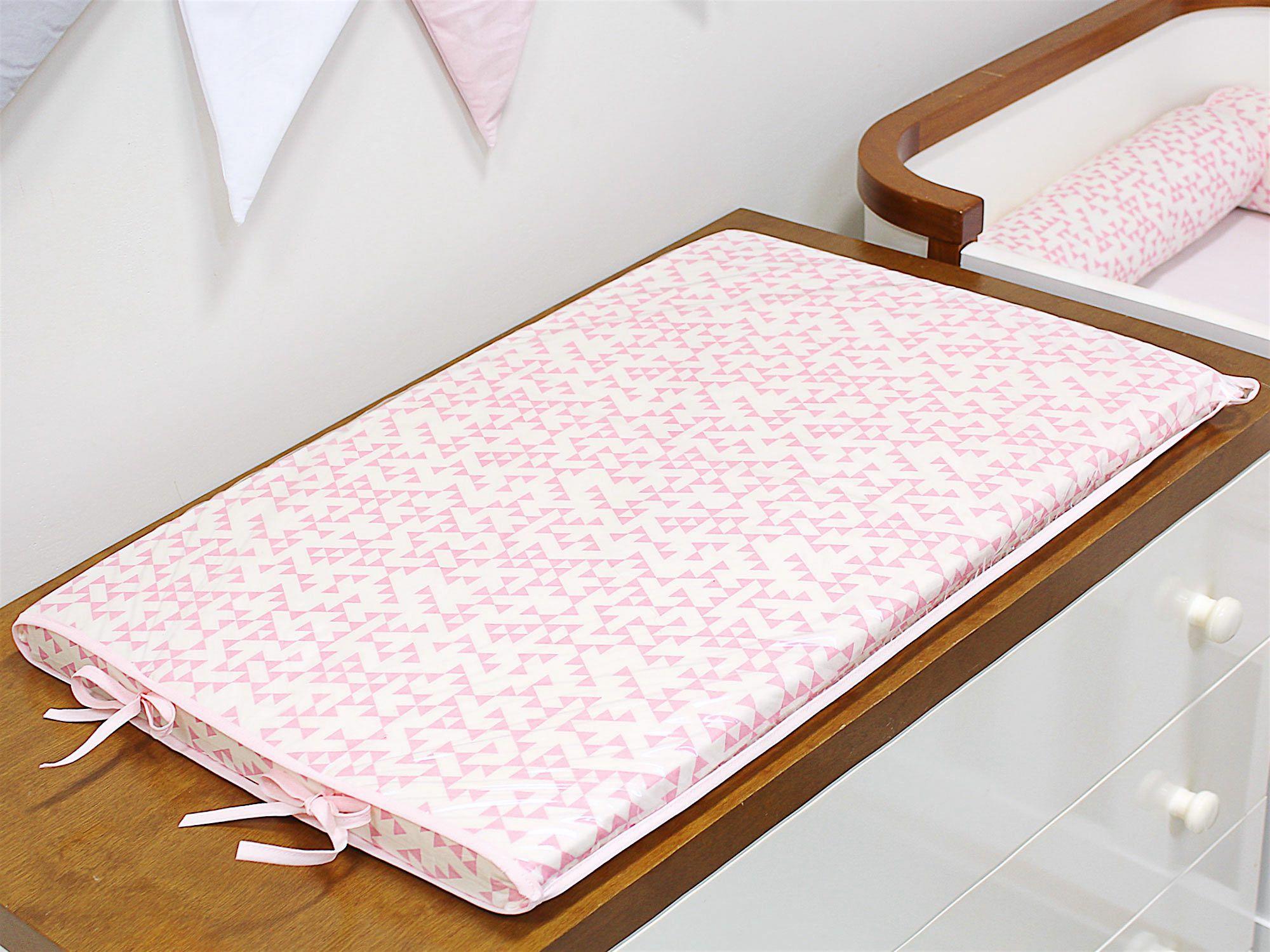 Trocador Espuma 4cm Triângulo Rosa