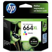 Cartucho HP 664XL colorido F6V30AB HP