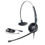 Yealink Headset YHS34 RJ9 - Mono (Substituto do YHS33 Rj9) couro