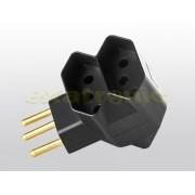 Multiplicador de Tomadas 2P+T 10A - Plug Macho 03 tomadas 10A