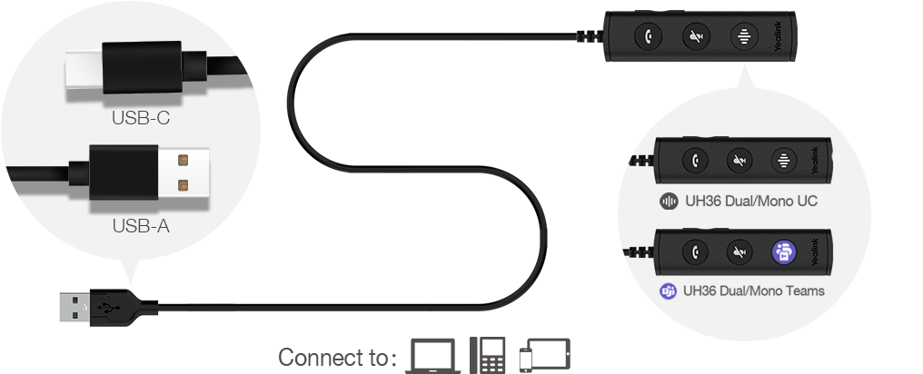 Headset Yealink Teams UH36 Mono  - Northshop São Paulo