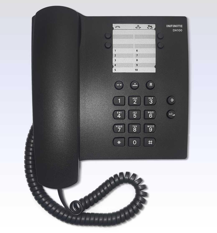 Telefone  com Fio Infinite  DA100  (substituto Gigaset-Siemens)  - Northshop São Paulo