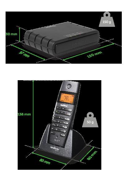 Telefone IP Intelbras TS 60 IP Microcentral IP sem fio  - Northshop São Paulo