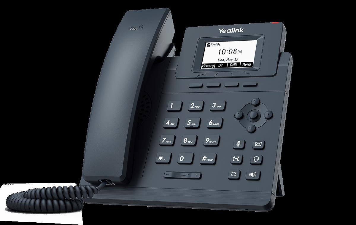 Telefone Yealink SIP T30 (sucessor do telefone T19 E2) com fonte   - Northshop São Paulo