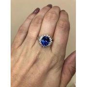 Anel Ouro 18k Diamantes e Tanzanita de 4.92 cts