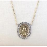 Medalha Nossa Senhora das Graças Ouro 18k e diamantes