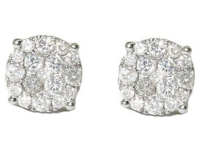 Brinco Ouro 18k 1.98 Kts De Diamantes Ponto De Luz   - Sancy