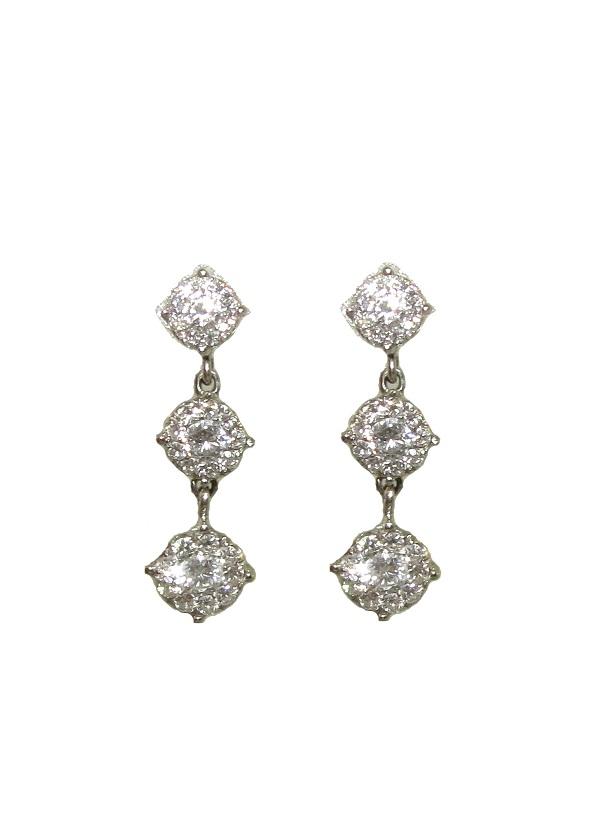 Brinco Ouro 18k Com 1,55 Quilates De Diamantes Ponto De Luz  - Sancy
