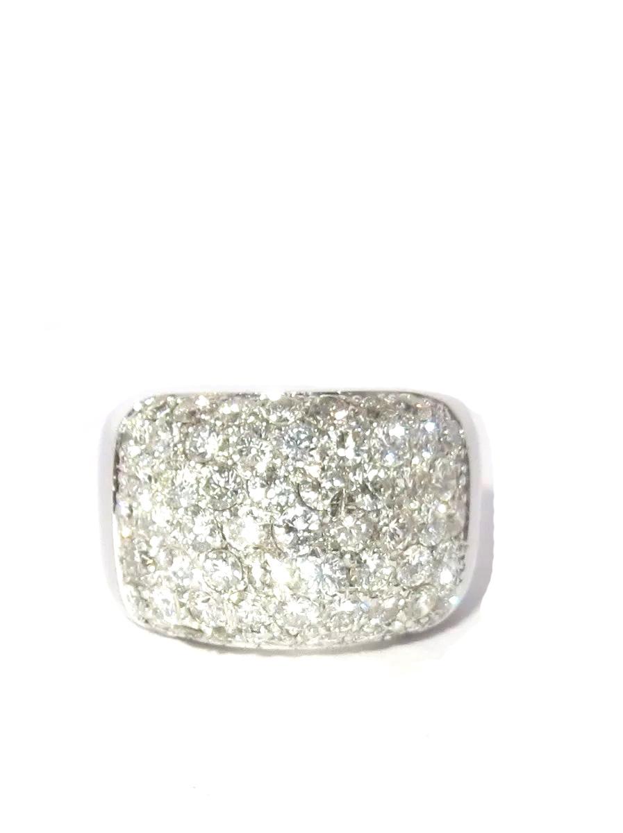 Anel Ouro Branco 18k Pave De 2.81 quilates de Diamantes  - Sancy