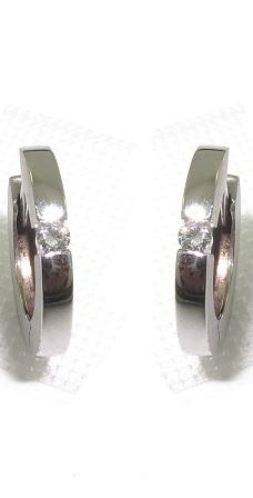 Argolas Ouro 18k Com Diamante Solitário  - Sancy