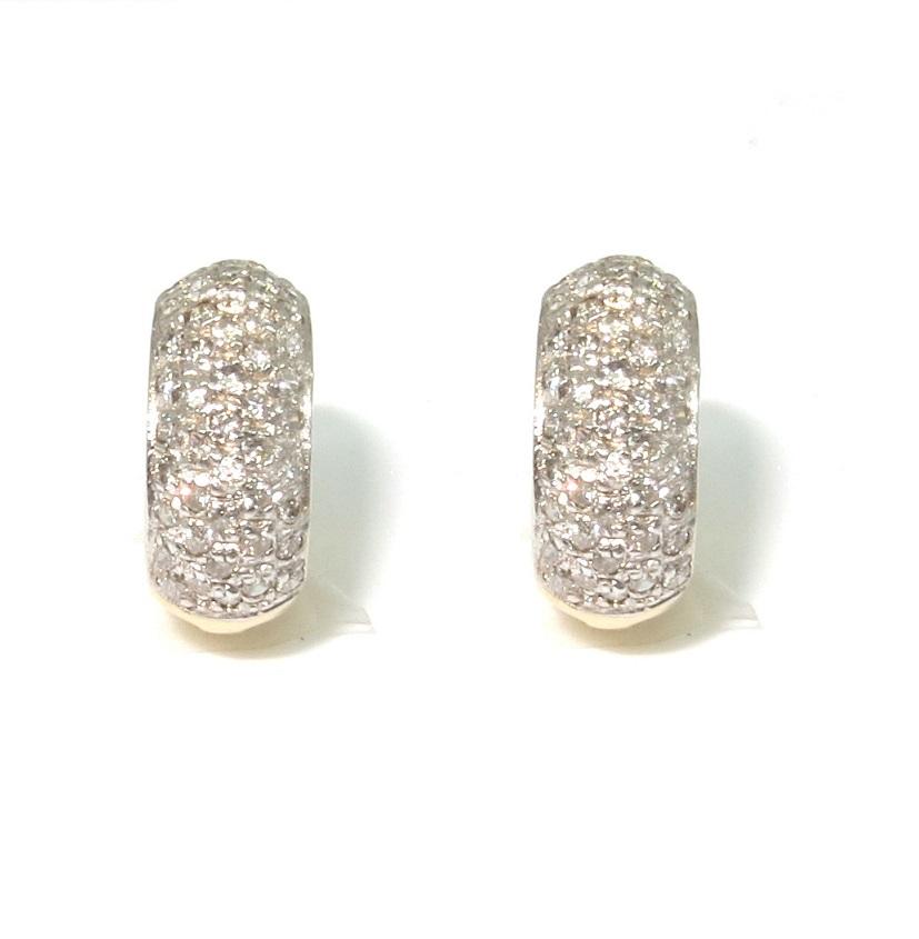Brinco Argolas Ouro 18k Com 94 Diamantes  - Sancy