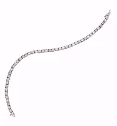 Pulseira Ouro 18k Riviera de Diamantes  - Sancy