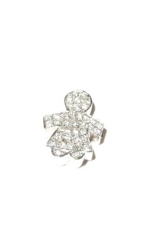 Pingente Menina de Ouro e Diamantes  - Sancy