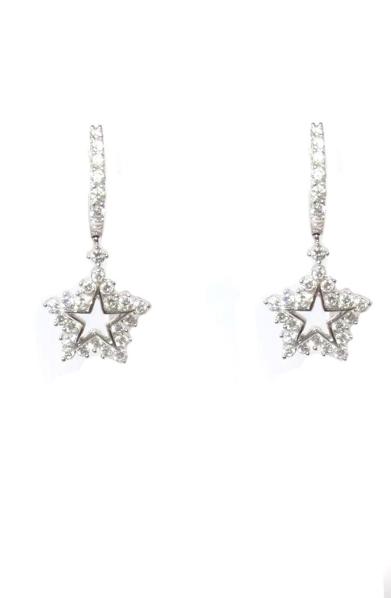 Brinco Estrela De Ouro 18k E 1.00 Quilate De Diamantes  - Sancy