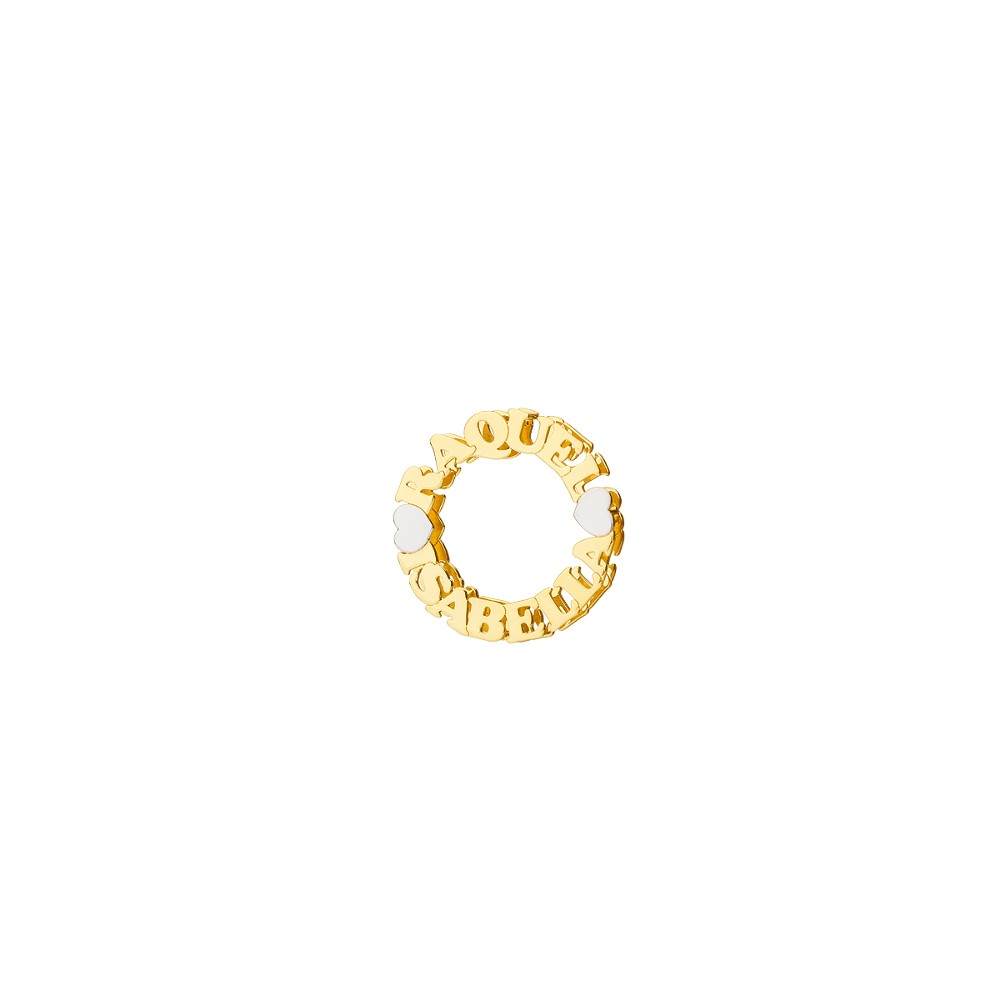 Mandala com Nomes Ouro 18k  - Sancy
