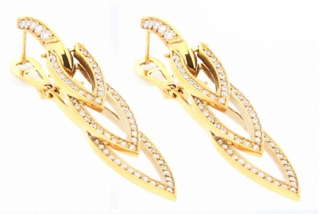Brinco Ouro Rose 18k e diamantes  - Sancy