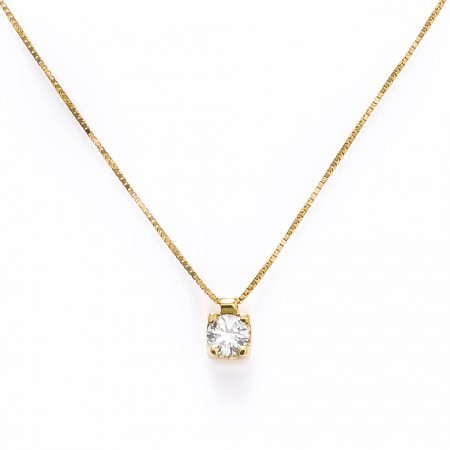 Pingente Ponto de luz Ouro 18k com Diamante de 0.10 pts  - Sancy