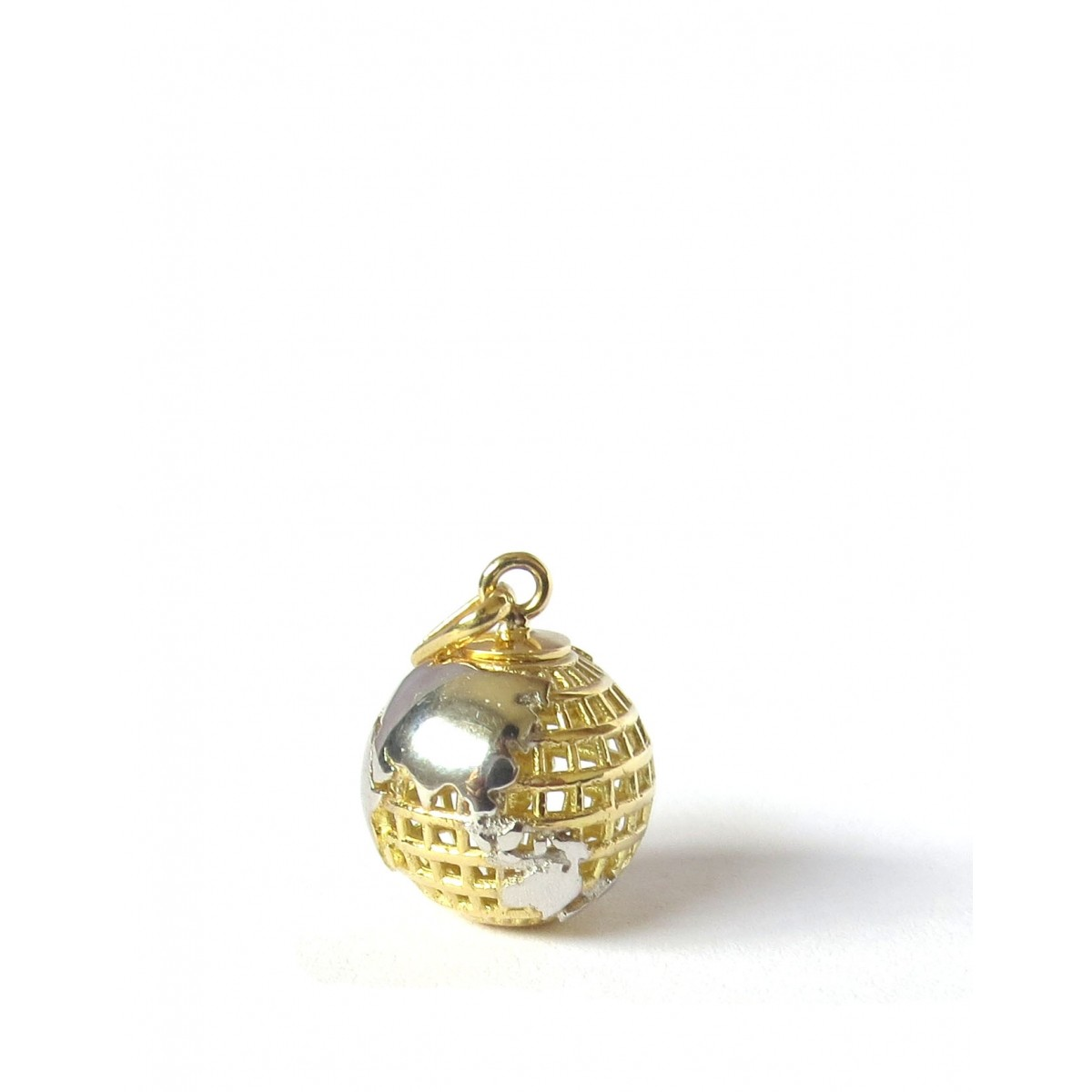Pingente Globo Terrestre Ouro 18k - Tamanho Pequeno  - Sancy