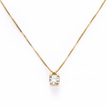 Colar Ponto de Luz Ouro 18k  e Diamante  - Sancy