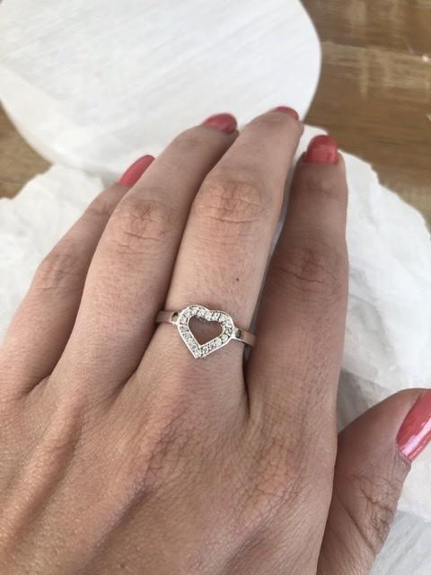 Anel Coração De Diamantes Ouro 18k  - Sancy