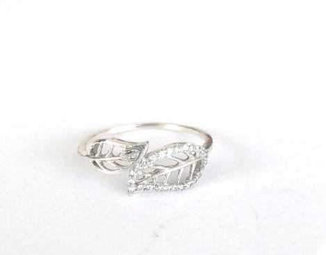 Anel Folhas Ouro 18k e Diamantes  - Sancy