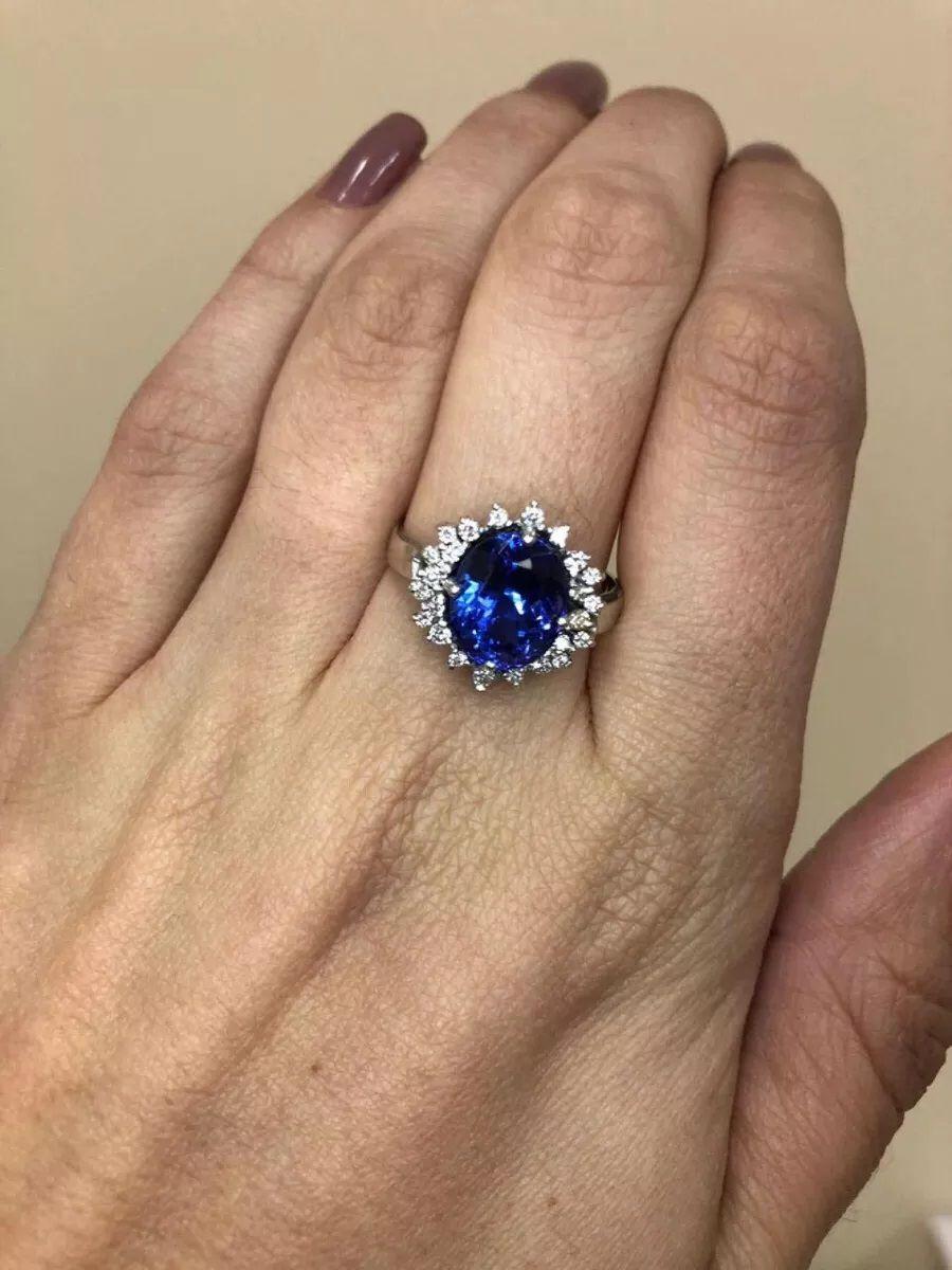 Anel Ouro 18k Diamantes e Tanzanita de 4.92 cts  - Sancy