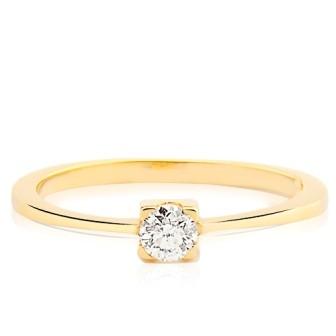 Anel Ouro 18k Solitário Diamante 15 pontos  - Sancy