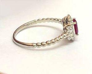 Anel Ouro 30 pontos de Diamantes e Rubi  - Sancy