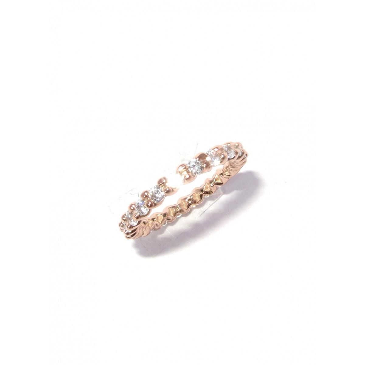 Anel Ouro Rose 18k Inteiro de Diamantes 1.00 quilate  - Sancy