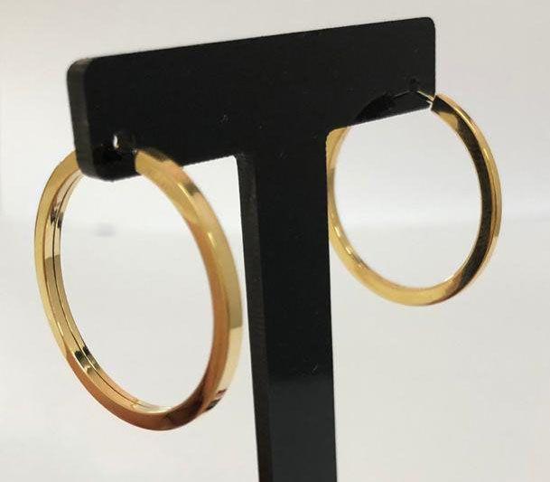 Argolas Ouro 18k  - Sancy