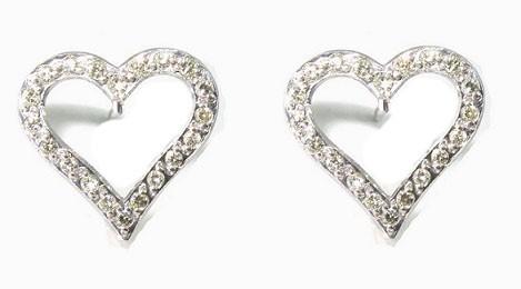 Brinco Coraçao Ouro 18k com 40 pontos de diamantes  - Sancy