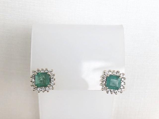 Brinco Esmeraldas e Diamantes Ouro 18k  - Sancy