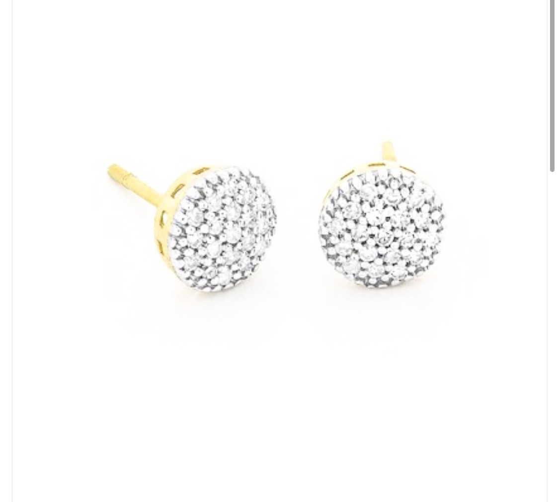 Brinco Pave Diamantes Ouro 18k  - Sancy
