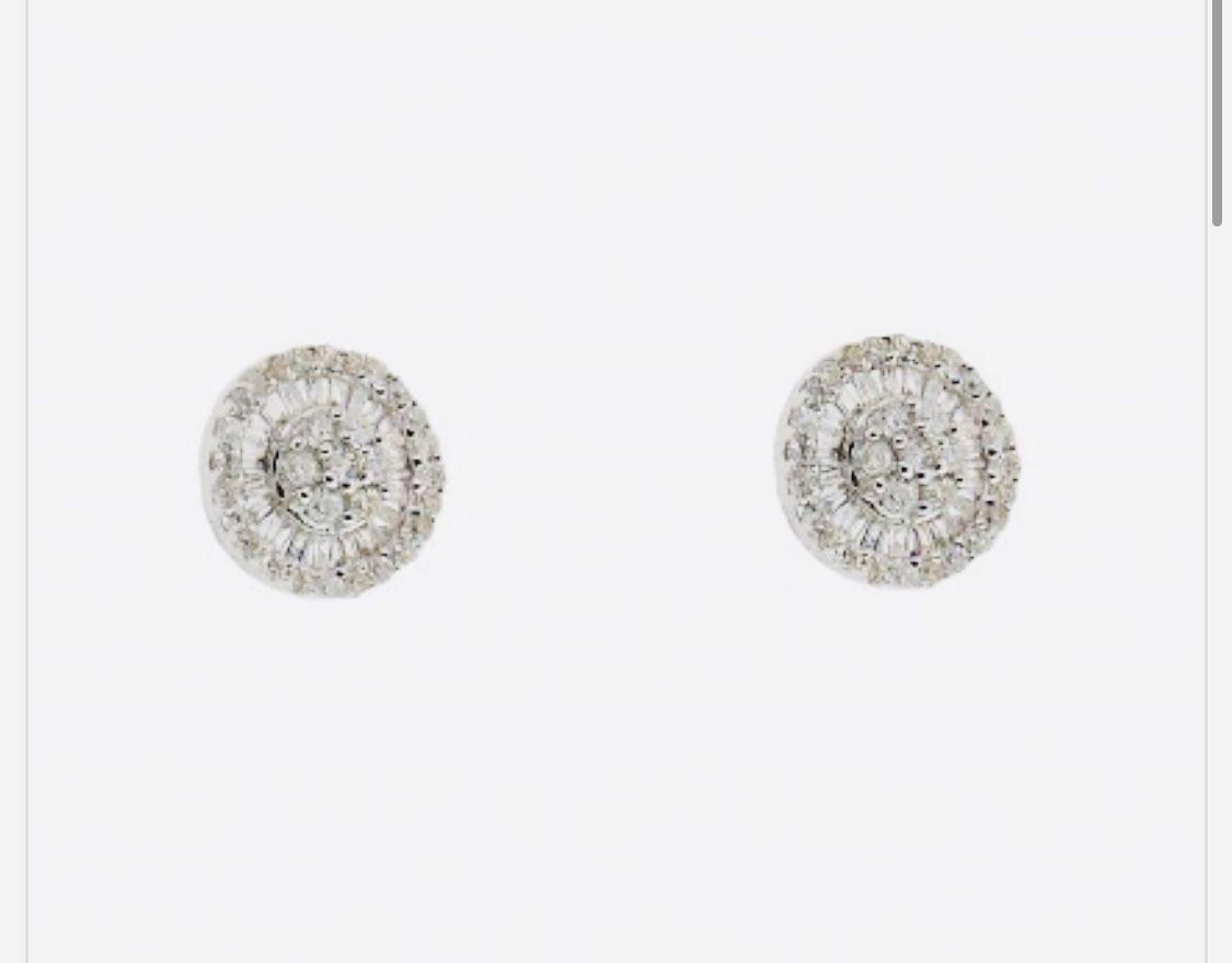 Brinco Pizza Ouro e Diamantes 8 mm  - Sancy