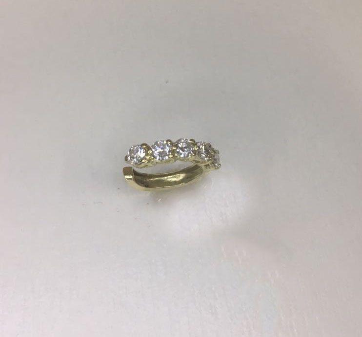 Piercing de Encaixe Ouro 18k e diamantes  - Sancy
