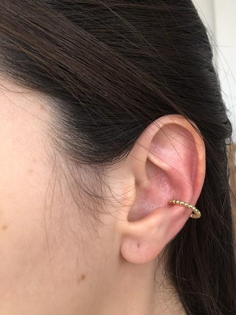 Piercing esferas ouro 18k  - Sancy