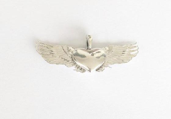 Pingente Coração Alado Ouro 18k Maior  - Sancy