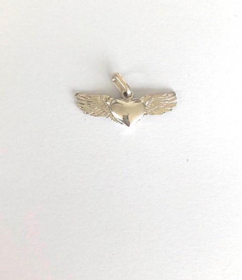Pingente Coração Alado Ouro 18k Menor  - Sancy