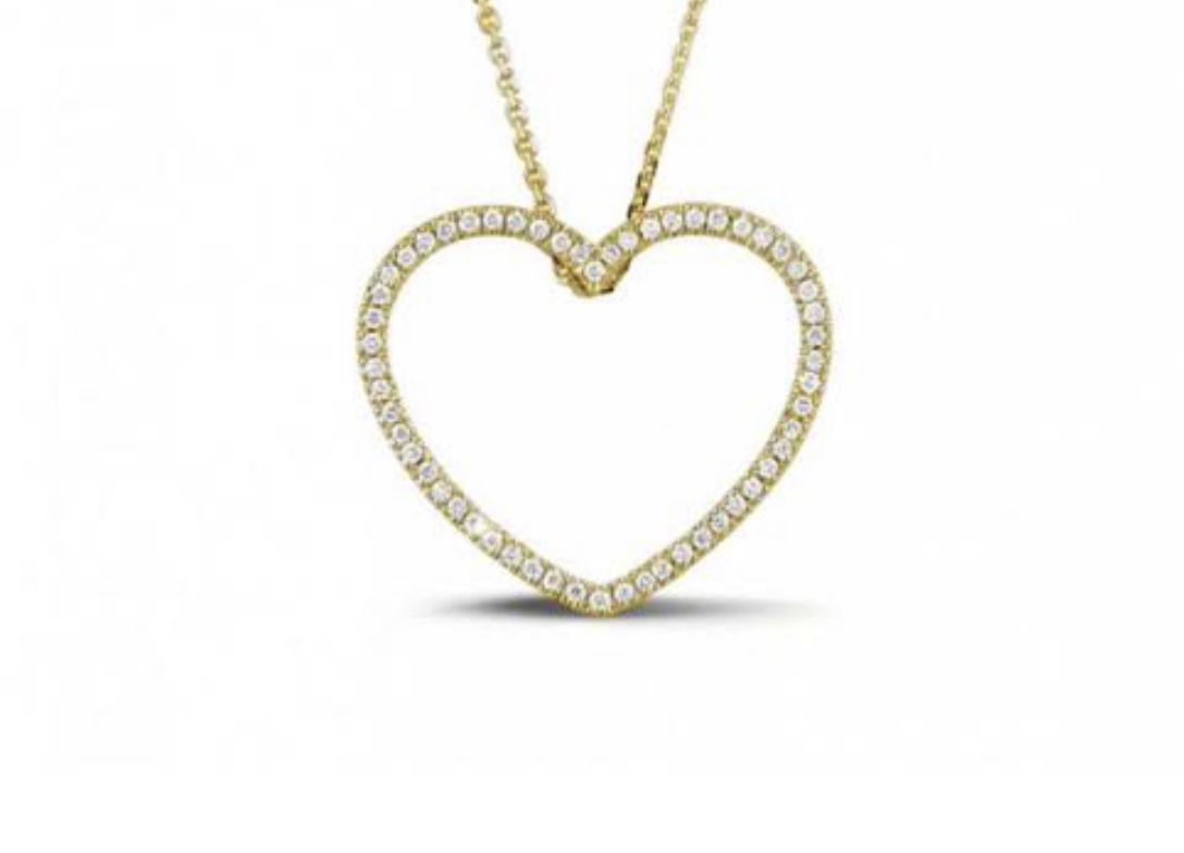 Pingente Coração de Ouro e Diamantes  - Sancy