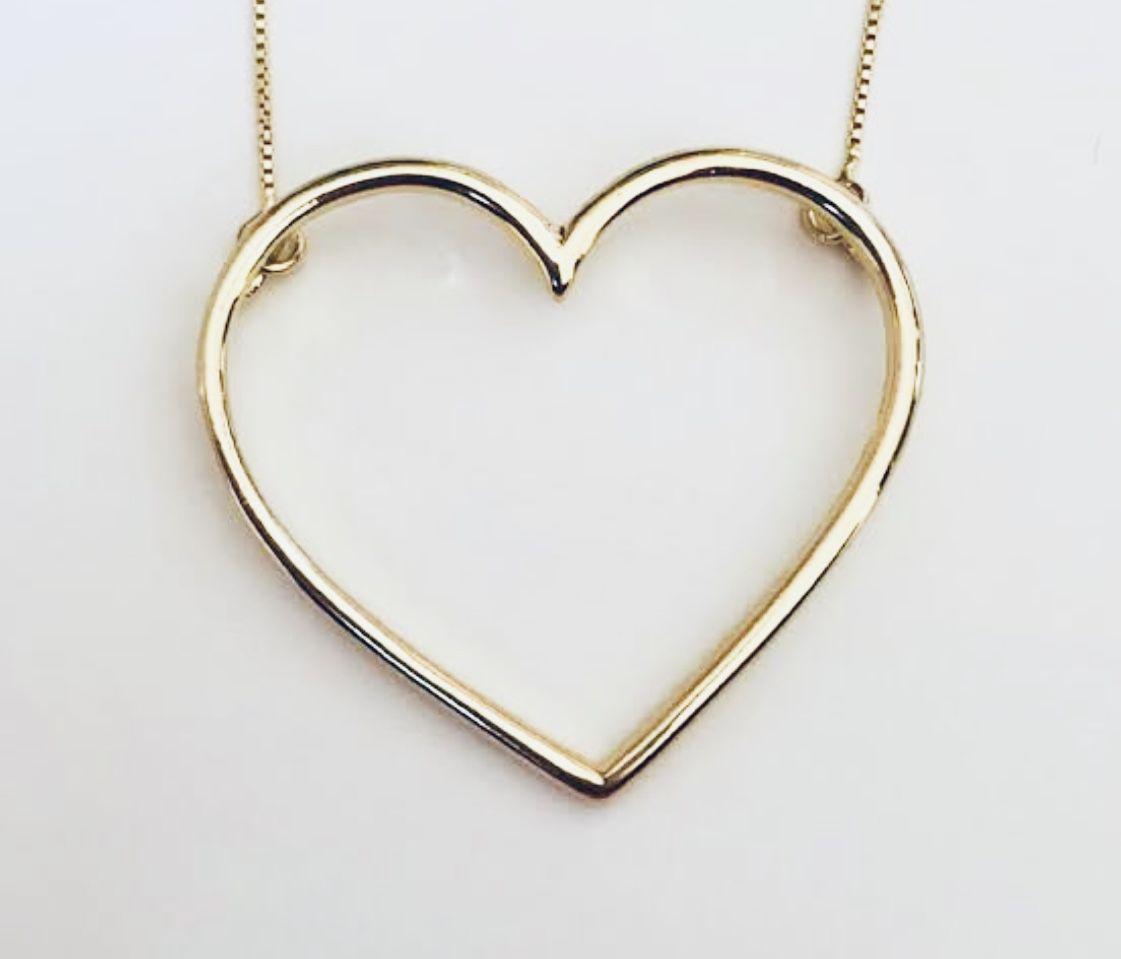 Pingente Coração Vazado Ouro  - Sancy