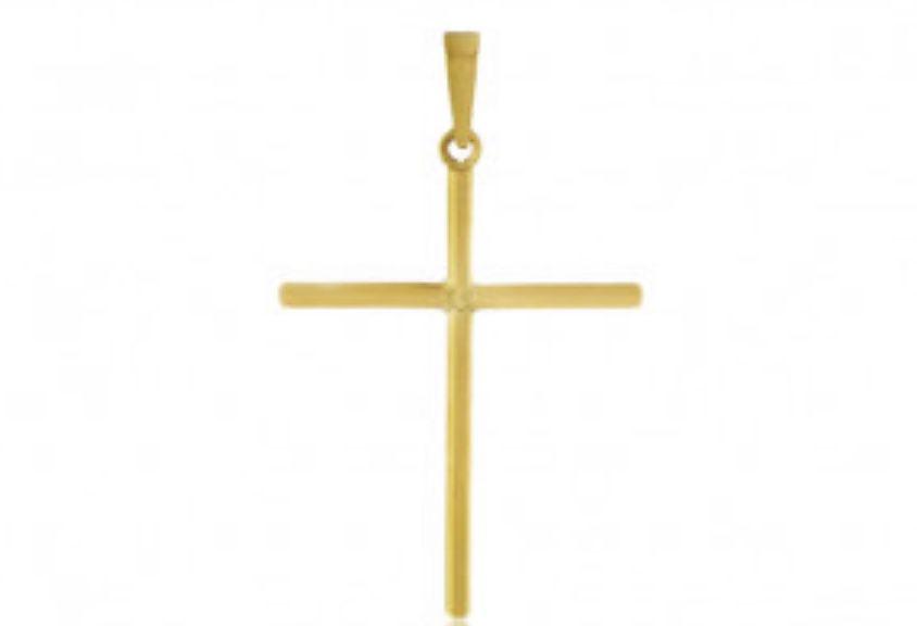 Pingente Cruz Ouro   - Sancy