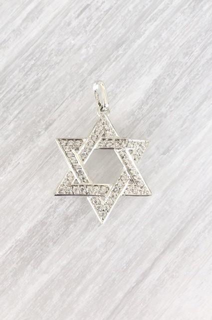 Pingente Estrela de David Diamantes Ouro 18k  - Sancy