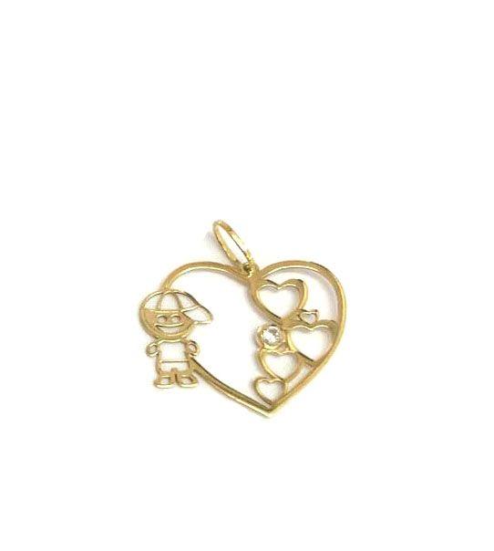 Pingente Ouro Menino com Diamante  - Sancy