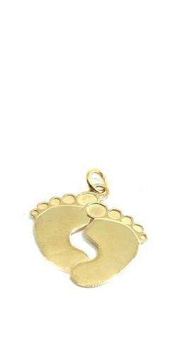 Pingente Pés de BeBe Ouro 18k  - Sancy