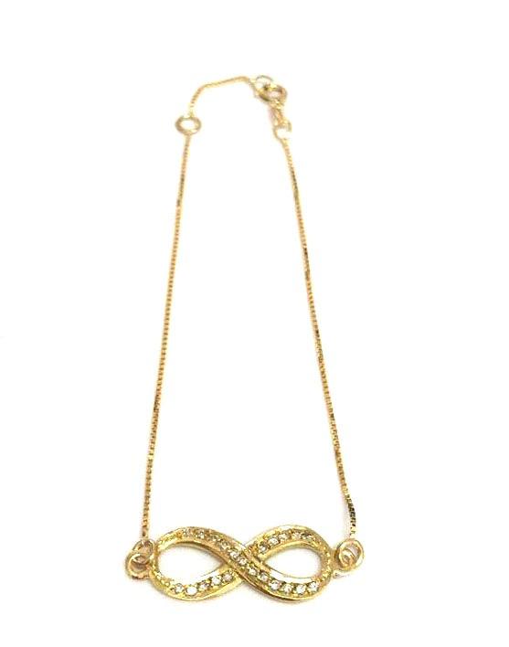 Pulseira Ouro Infinito de Diamantes  - Sancy