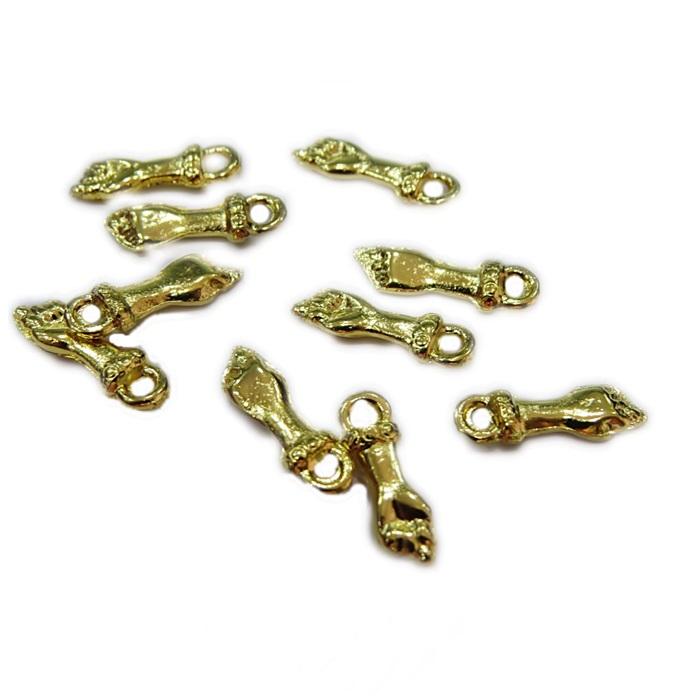 Mini pingente dourado figa (10 unid.)- MPD004