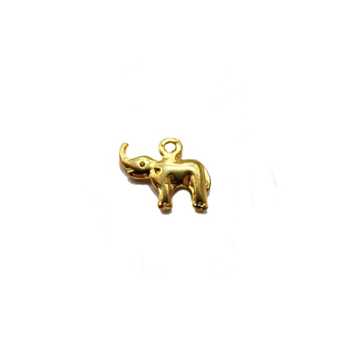 Pingente Elefante pequeno dourado (10 unidades)- PTD031